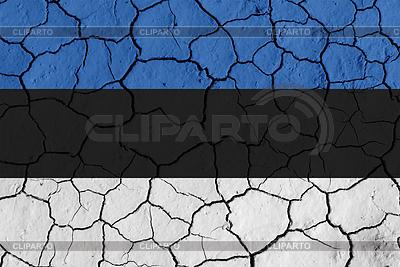 Flaga Estonii na tle pęknięty | Stockowa ilustracja wysokiej rozdzielczości |ID 3881338
