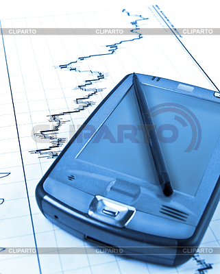 PDA on stock chart | Foto stockowe wysokiej rozdzielczości |ID 3867289