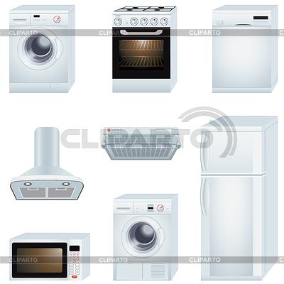 Sprzęt gospodarstwa domowego | Klipart wektorowy |ID 3867526