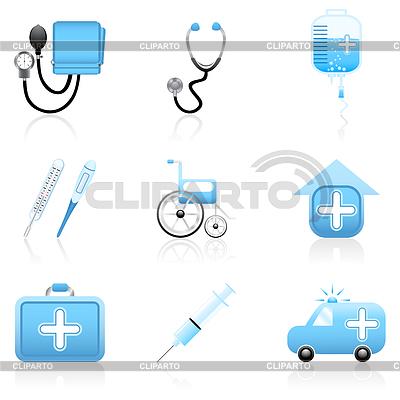 Zestaw ikon medycznych | Klipart wektorowy |ID 3867558