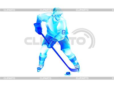 Хоккеист атаки | Иллюстрация большого размера |ID 4071967