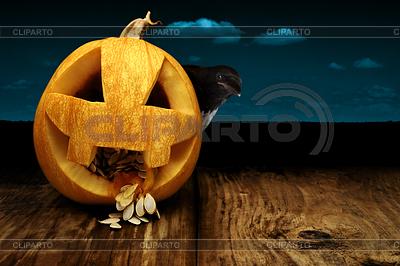 Pumpkin and crow | Foto stockowe wysokiej rozdzielczości |ID 3925264