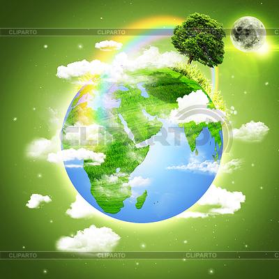 Планете Земля. Абстрактные экологического фона | Иллюстрация большого размера |ID 3914038