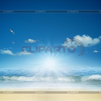 Na oceanie. Streszczenie naturalne tła dla | Foto stockowe wysokiej rozdzielczości |ID 3914317