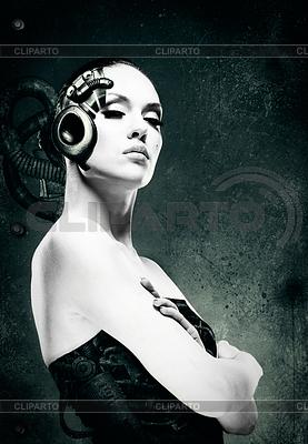 Mechanische Frau. Abstrakt weiblichen Porträt | Foto mit hoher Auflösung |ID 3916585