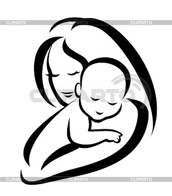 Matka i dziecko | Klipart wektorowy |ID 3923619