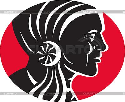 Indianischen Häuptling | Stock Vektorgrafik |ID 3961456