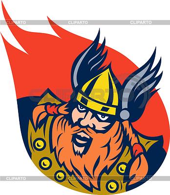 Viking warrior lub nordyckiego boga | Klipart wektorowy |ID 3969509