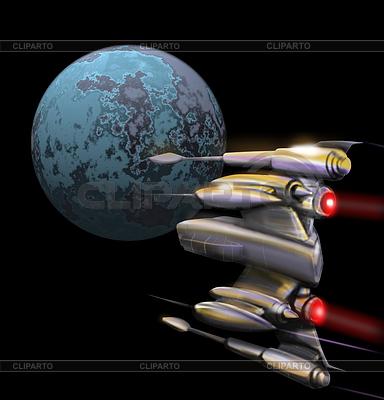 Космический истребитель | Иллюстрация большого размера |ID 3980418