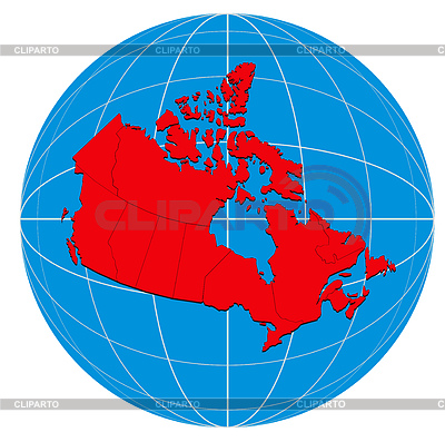 Globe Canada Map | 높은 해상도 그림 |ID 3984051