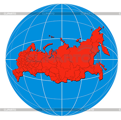 Globe Russia Map | Stockowa ilustracja wysokiej rozdzielczości |ID 3984052