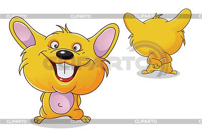 Hamster z przodu iz tyłu | Klipart wektorowy |ID 3945184
