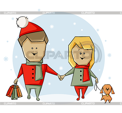 Hund und einkaufsmöglichkeiten vor weihnachten kovaleva veronika