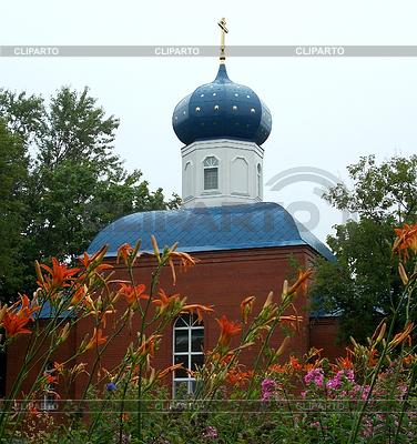 Orthodoxe Kirche nach dem Regen | Foto mit hoher Auflösung |ID 3971844