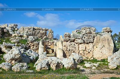 Prähistorische Tempel Ggantija | Foto mit hoher Auflösung |ID 3988527