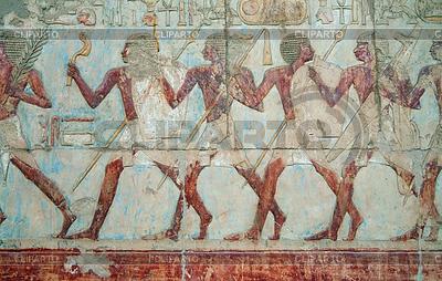 Wall decor at Hatshepsut Temple | Foto stockowe wysokiej rozdzielczości |ID 4007434