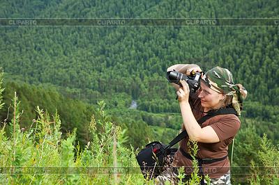 Fotograf turysta robi zdjęcia | Foto stockowe wysokiej rozdzielczości |ID 4025478