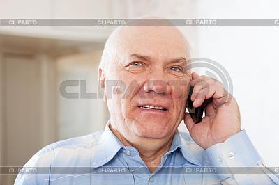 Schönen reifen Mann spricht per Telefon | Foto mit hoher Auflösung |ID 4029022