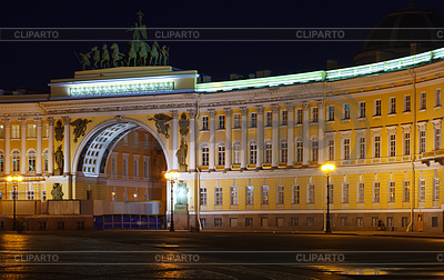 General Staff Building in night | Foto stockowe wysokiej rozdzielczości |ID 4047710