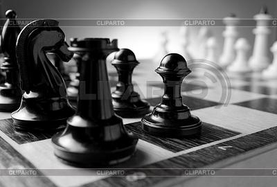 Schachfiguren auf Schachbrett | Foto mit hoher Auflösung |ID 4034975
