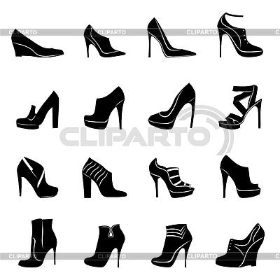 векторный клипарт обувь: