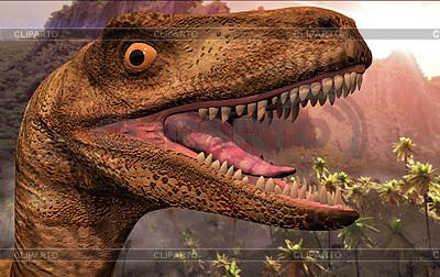 Kopf der Dinosaurier | Illustration mit hoher Auflösung |ID 4280449