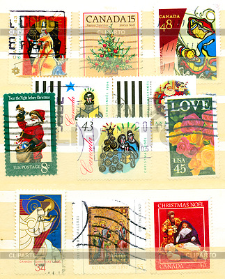 Collection of Christian postage stamps | 높은 해상도 사진 |ID 4286223