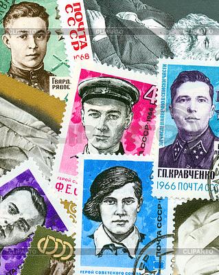 Kommunistische Propaganda Vintage-Stempel | Foto mit hoher Auflösung |ID 4286227