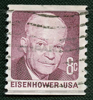 Eisenhower auf US-Vintage-Poststempel | Foto mit hoher Auflösung |ID 4286651