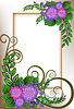 Vector clipart: Frame of lilac flowers
