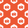 Orange hexagon camera pattern