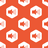 Orange hexagon loudspeaker pattern