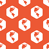 Orange hexagon America pattern