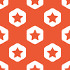 Orange hexagon star pattern