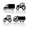 Set of transport icons - Tractor and Tipper | Stock Vector Graphics